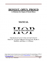 HOP Adult Manual and Workbook