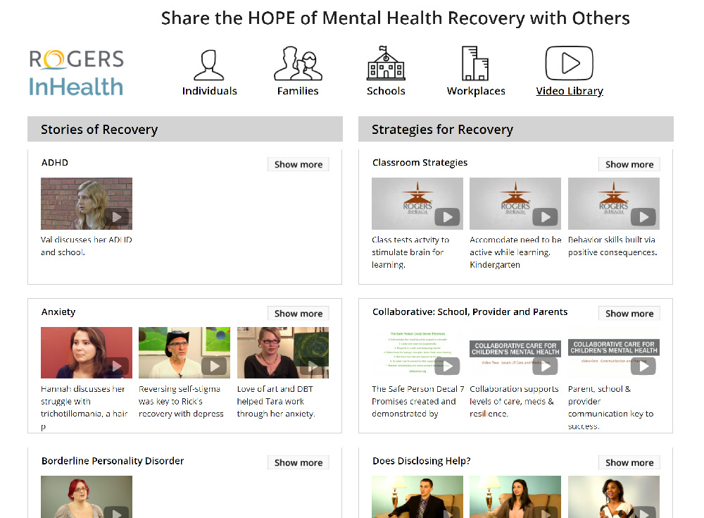 Video Stories of Recovery